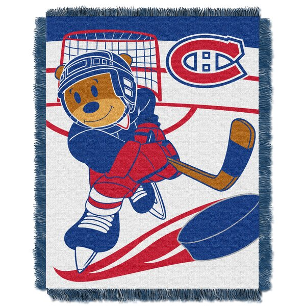 NHL Canadiens Baby Woven Throw Blanket by Northwest Co.