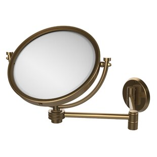 Online Reviews Extend 2X Magnification Wall Mirror with Dotted Detail ByAllied Brass