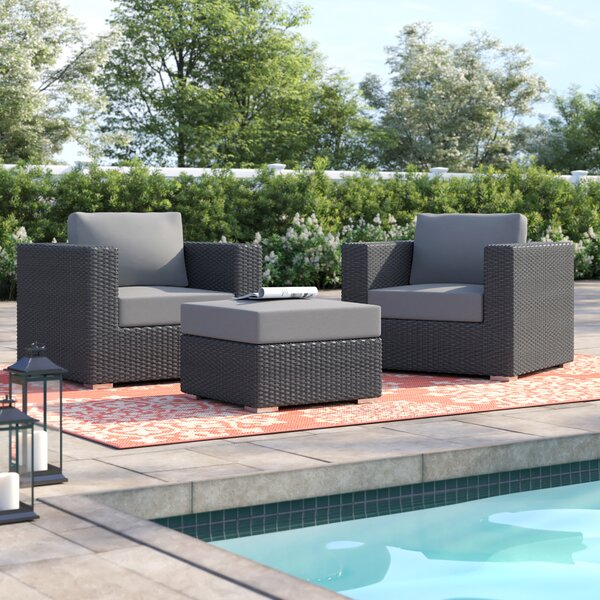 Brentwood 3 Piece Seating Group with Cushions by Sol 72 Outdoor