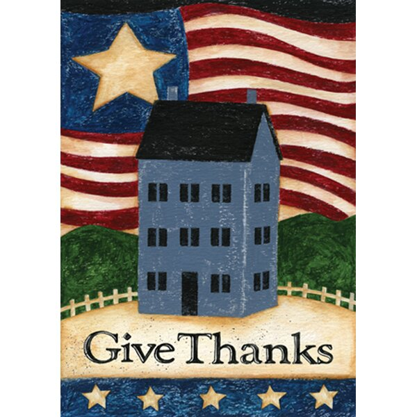 Give Thanks Garden flag by Toland Home Garden