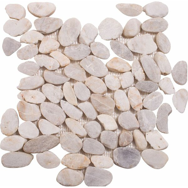 Sliced Stone Pebble Tile in Sand by Parvatile