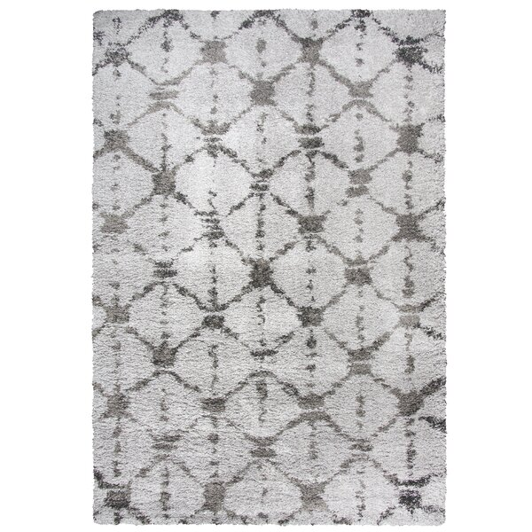 Matias Gray Shag Area Rug by Bungalow Rose