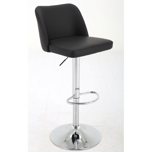 Elster Adjustable Height Swivel Bar Stool by Orren Ellis