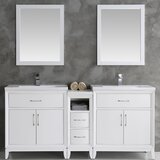 Cambridge 72 Double Bathroom Vanity Set with Mirror byFresca
