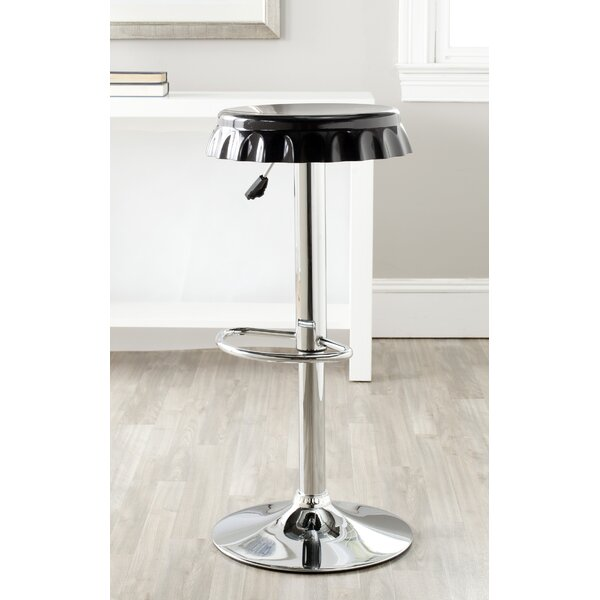 Rea Adjustable Height Swivel Bar Stool by Orren Ellis