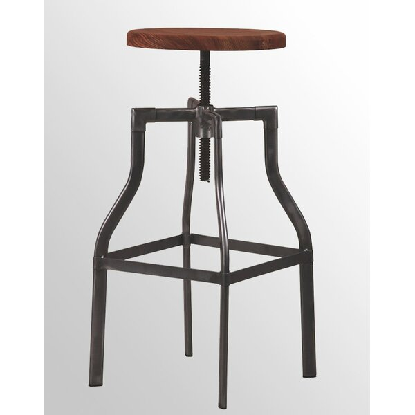 Miller Adjustable Height Bar Stool (Set Of 2) By 17 Stories