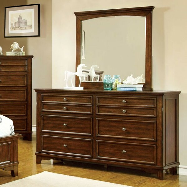 Kiro 6 Drawer Dresser with Mirror by Alcott Hill