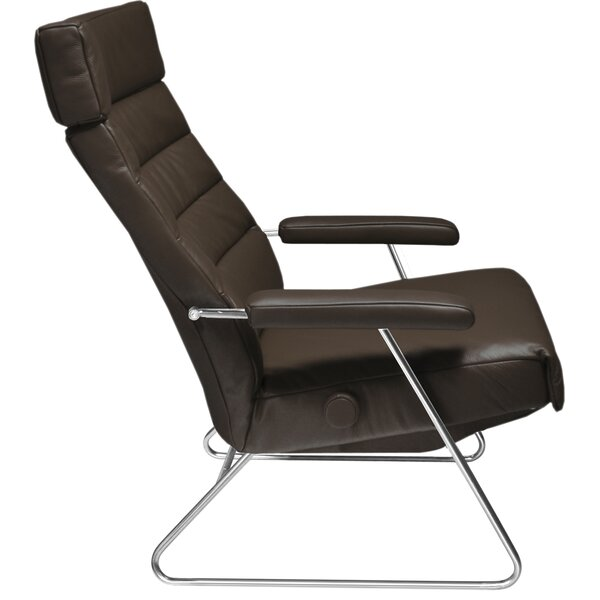 Adele Leather Manual Recliner by Lafer