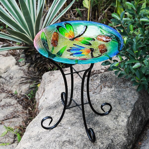 Dragonfly Birdbath by Winsome House