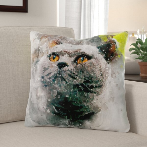 Dubreuil Cat Throw Pillow