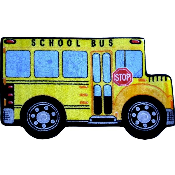 Fun Shape High Pile School Bus Area Rug by Fun Rugs