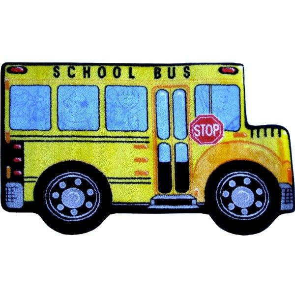 Fun Shape High Pile School Bus Area Rug by Fun Rugs