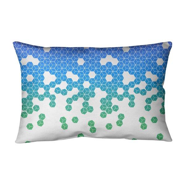 Leffel Tumbling Cube Indoor/Outdoor Lumbar Pillow