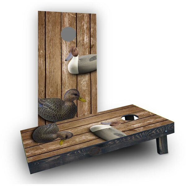Wood Slat Duck Decoy Cornhole Boards (Set of 2) by Custom Cornhole Boards