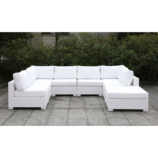 Kuhn Sectional with Ottoman and cushions by Rosecliff Heights