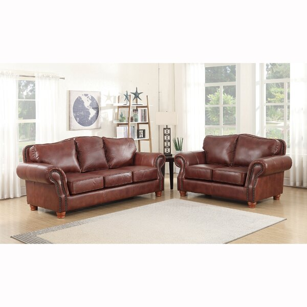 Vranduk 2 Piece Leather Living Room Set  By Canora Grey Amazing