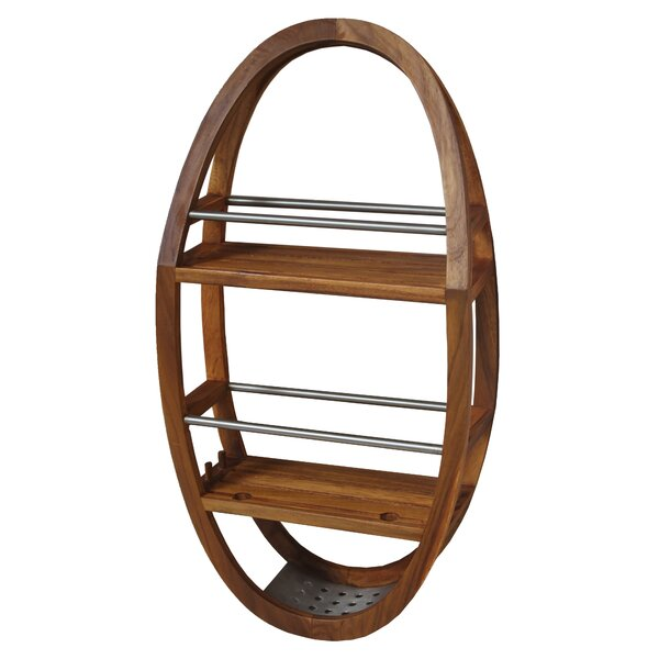 Teak and Stainless Steel Shower Caddy by Aqua Teak