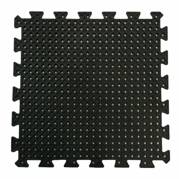 Eco-Drain Interlocking Rubber Tile Mat (Set of 16) by Rubber-Cal, Inc.