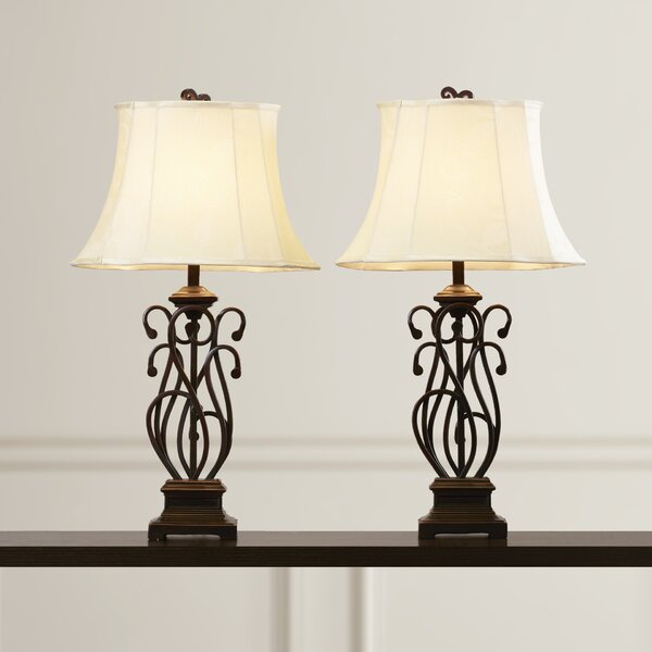 Susie Scroll 32.5 Table Lamp (Set of 2) by Fleur De Lis Living
