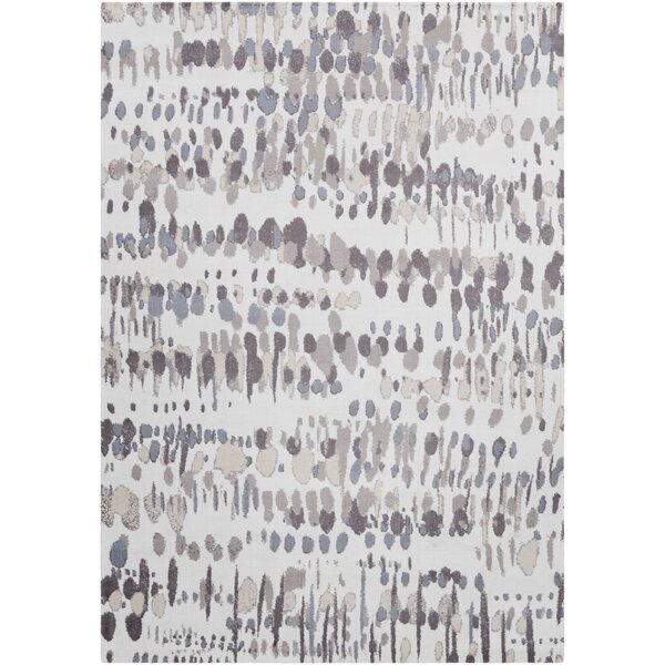 Manville Modern Abstract Ivory/Brown Area Rug by Ivy Bronx