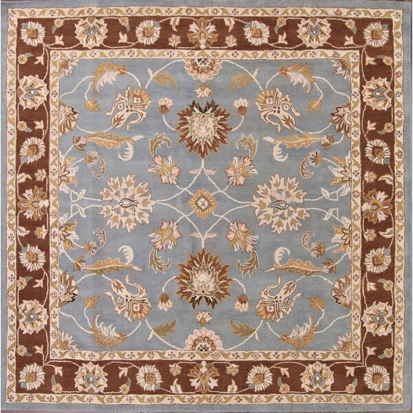 Bovill Agra Oriental Hand-Tufted Wool Brown/Blue Area Rug by Canora Grey
