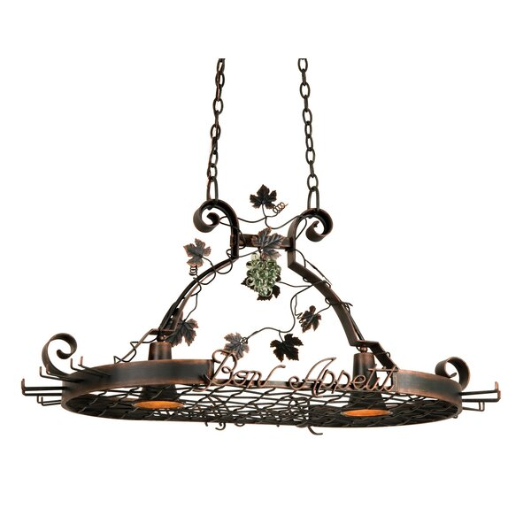 Bon Appetit 2 Light Hanging Pot Rack by Kalco