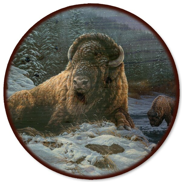 Spirit of The Wild (Bison) Lazy Susan by WGI-GALLERY