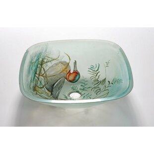 Find for Glass Square Vessel Bathroom Sink ByLegion Furniture