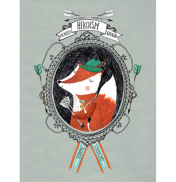 Woodland Awards Hero Fox Canvas Art by Oopsy Daisy