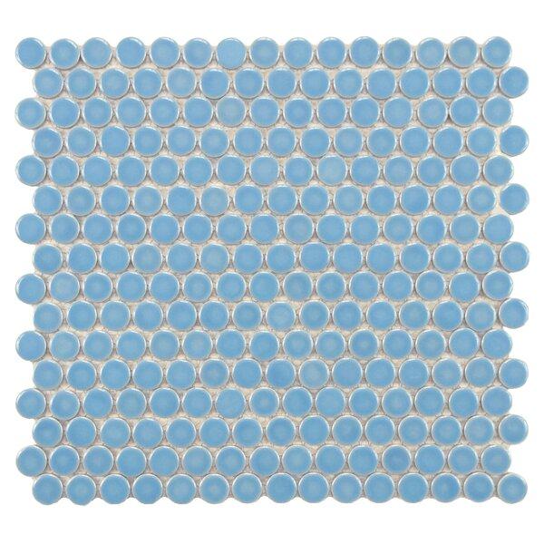 Penny 0.8 x 0.8 Porcelain Mosaic Tile in Light Blue by EliteTile