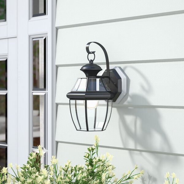Mellen LED Outdoor Wall Lantern by Three Posts