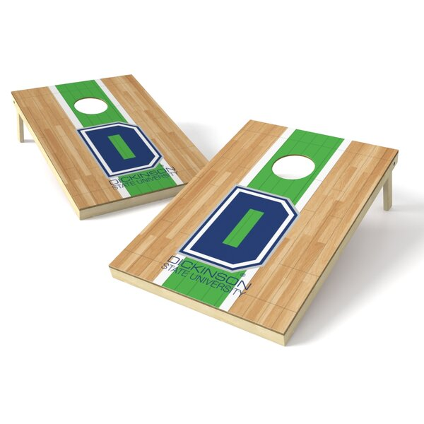 Dickinson State Hardwood Cornhole Game Set by Tailgate Toss