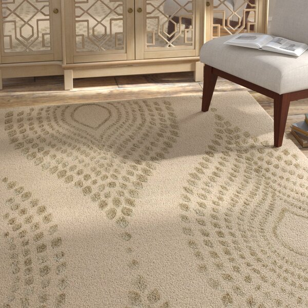 Smith Hand-Tufted Sand/Brown Area Rug by Bungalow Rose