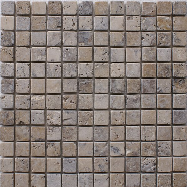 Philadelphia 1 x 1 Travertine Mosaic Tile in Grey by Epoch Architectural Surfaces