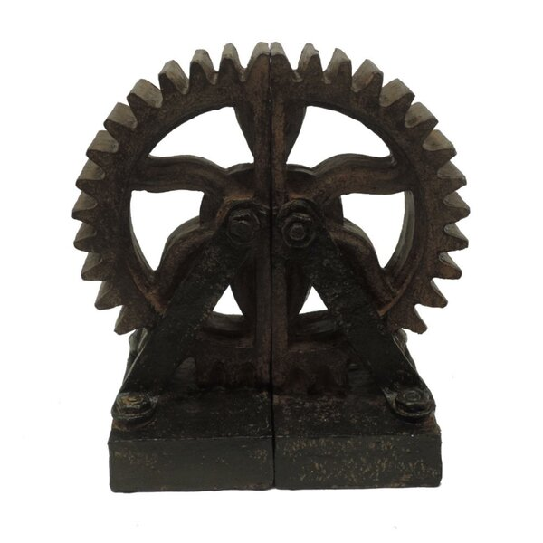 Rusted Gear Bookend (Set of 2) by Trent Austin Des