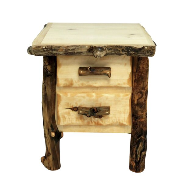 Aspen Grizzly 2 Drawer Nightstand by Mountain Woods Furniture