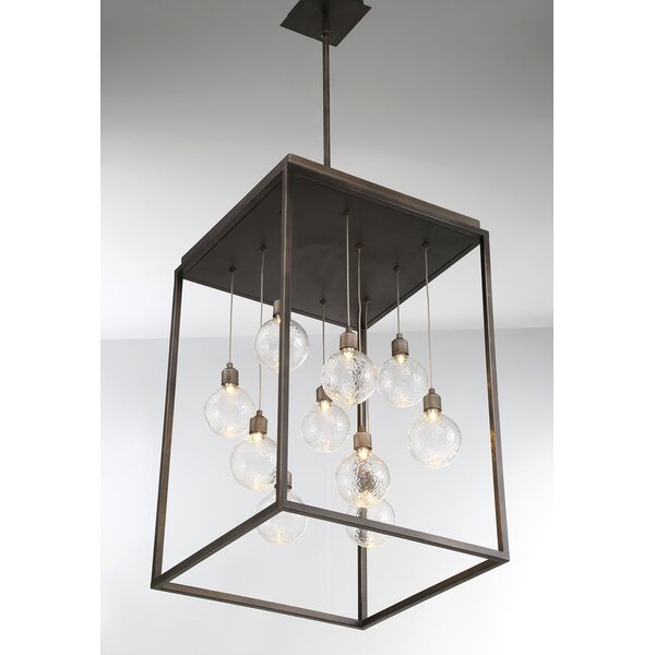 Fenagh 10-Light LED Shaded Rectangle / Square Chandelier By Gracie Oaks