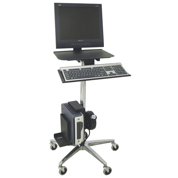 ERGO Computer Transport AV Cart with Cord Reel by Omnimed