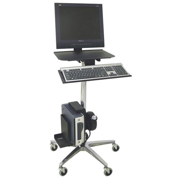 ERGO Computer Transport AV Cart with Cord Reel by Omnimed