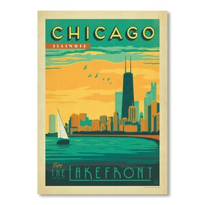 Chicago Lakefront Vintage Advertisement by East Urban Home