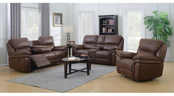 Loveday 3 Piece Reclining Living Room Set by Red Barrel Studio