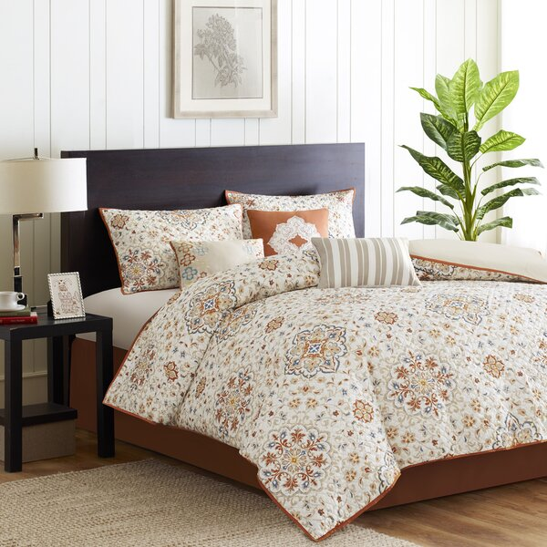 Flint 6 Piece 2-In-1 Duvet Set By Bungalow Rose.