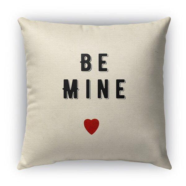 Be Mine Burlap Indoor/Outdoor Throw Pillow by KAVKA DESIGNS