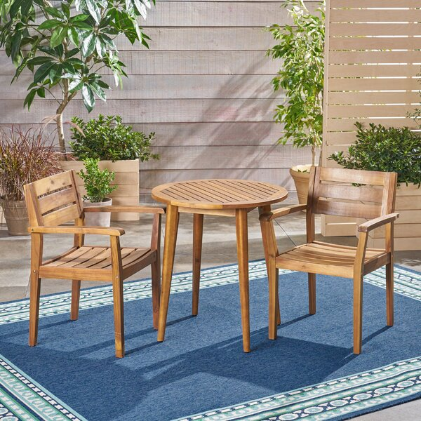 Coopers Corner Outdoor 3 Piece Bistro Set By Wrought Studio
