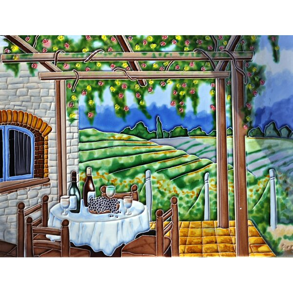 Vineyard with Trellis Wall Tile Wall Decor by Continental Art Center