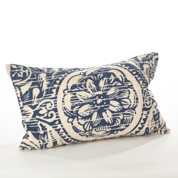 Montpellier Floral Cotton Lumbar Pillow by Saro