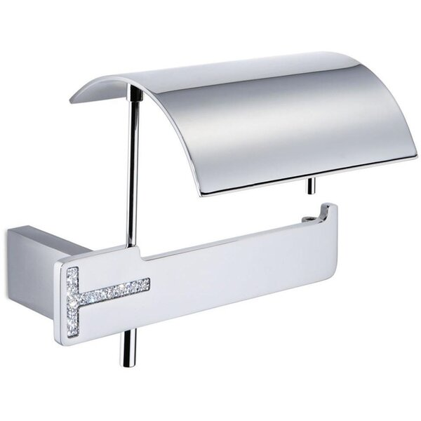 Lewistown Wall Mount Toilet Paper Holder with Lid