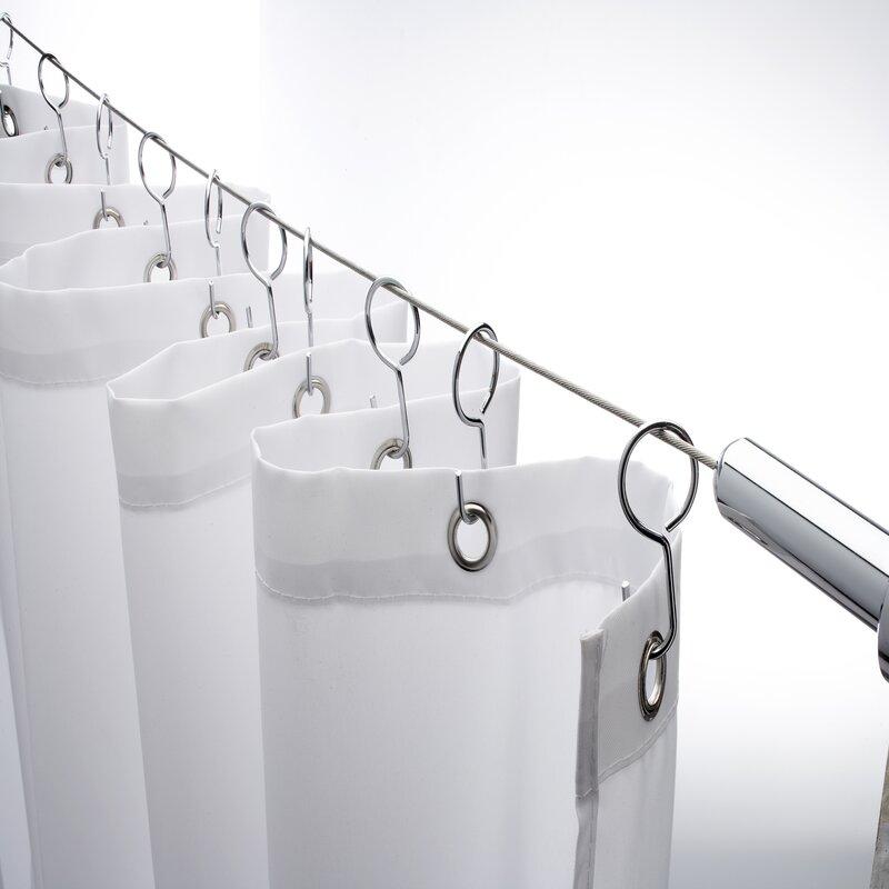 lowe chrome rod curtain ch canada corner s rods cheviot shower