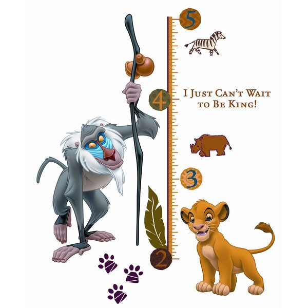 27 Piece Lion King Rafiki Giant Growth Chart Set by Room Mates