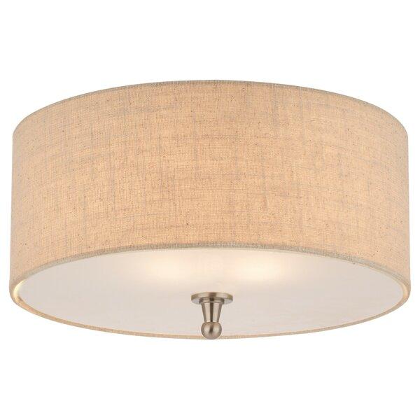 flush mount lighting youll love wayfair - Close To Ceiling Light Fixture